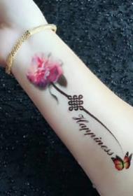 纹身贴效果图--小臂手腕处的一组纹身贴的纹身图案参考