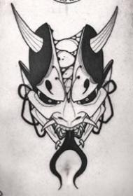 风格另类的一组破碎脸般若纹身作品图案