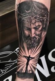耶稣相关的一组6张耶稣基督纹身图案欣
