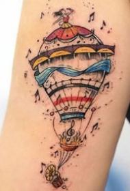 手臂和腿部很漂亮的一组彩色插画风格的纹身图案