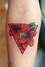 三角形刺青图案--9张三角形的几何图形纹身作品图片