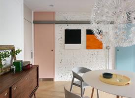 30 坪北欧风单身公寓公寓 采用开放式格局,引入大量自然光