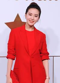 刘诗诗:红色西装+荷叶边红裙 CL蝴蝶结尖头鞋明艳优雅 