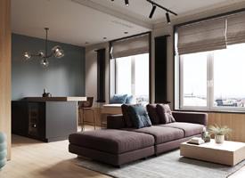 以天然材质和色彩的搭配婚房,诠释优雅精致的生活格调