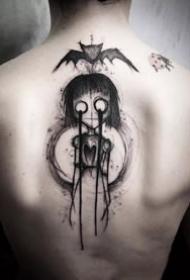 一组Gothic哥特式风格的暗黑小纹身图案9张