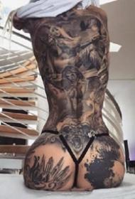 性感女郎纹身:9张欧美很性感的女郎纹身图案欣赏