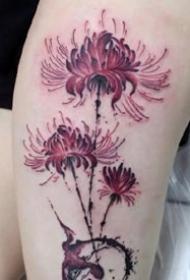 曼陀罗彼岸花纹身:18张好看的彼岸花纹身图案作品