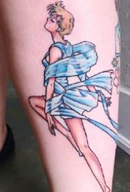 美少女战士纹身:18张卡通动画美少女战士纹身图案
