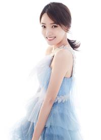 林源蓝色纱裙优雅写真图片
