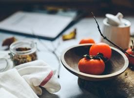 一组红彤彤的好看柿子图片欣赏