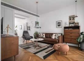 搭配胡桃木色家具的北欧风格装修效果图欣赏
