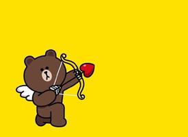 一组黄色背景下可爱的泰迪熊图片欣赏