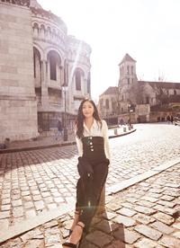钟祺国外街头时尚性感写真