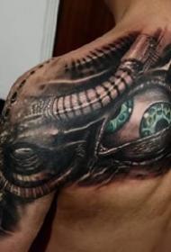 机械3d:科幻风格的一组3d机械纹身作品