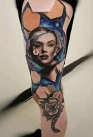 来自美国的一组逼真3D立体纹身图案