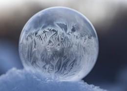冰凝结成的圆球图片_15张