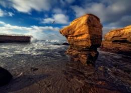 海边的岩石图片_11张