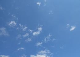 蓝天中的白云图片_14张