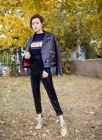 陈语安帅气潇洒街拍写真图片