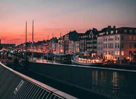 丹麦哥本哈根的日暮时分美景图片欣赏