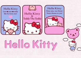 萌萌的Hello Kitty壁纸 看着就好软妹