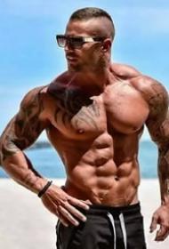 18张肌肉做衬的纹身帅哥图片欣赏
