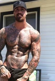 欧美肌肉型男纹身的帅哥图片9张