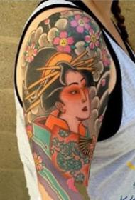 漂亮的一组艺伎纹身图案欣赏