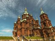 芬兰赫尔辛基乌斯别斯基东正教教堂建筑风景图片_9张