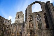 英国喷泉修道院建筑风景图片_20张