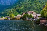 奥地利月亮湖小镇哈尔施塔特风景图片_11张