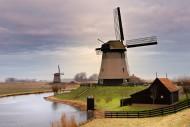 荷兰风车景色图片_10张