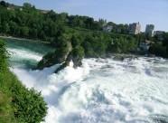 瑞士莱茵瀑布风景图片_8张