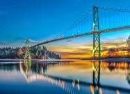 加拿大狮门大桥图片_12张