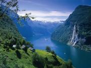 挪威峡湾风景图片_6张