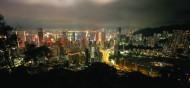 香港太平山顶夜景图片_5张
