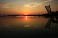 江苏无锡蠡湖夕阳风景图片_8张