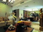 北京官园西派公寓A型东南亚风格样板房设计图片_6张