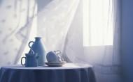 清新的窗帘图片_12张