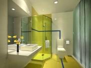 淡雅绿色卫生间设计图片_7张