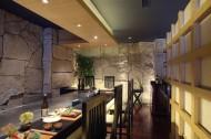 蓝日本餐厅装潢设计图片_15张
