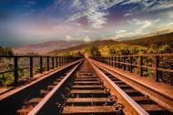 笔直的铁路图片_14张