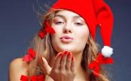圣诞节美女图片_20张
