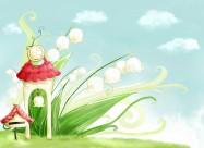 春季背景卡通矢量图片_16张