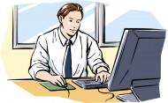 工作中的男性卡通矢量图片_45张