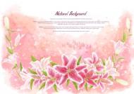 温馨粉色韩国花朵背景图片_17张