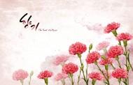 热情红色韩国花朵背景图片_10张