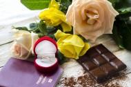 咖啡鲜花戒指巧克力礼品素材图片_19张