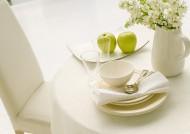 餐具和花朵图片_34张