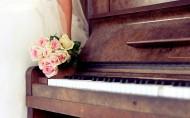 钢琴近景特写图片_24张